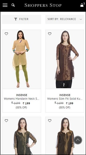 Shoppers Stop Women Kurtas