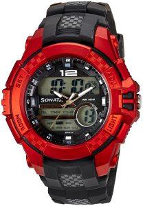 Sonata 77027PP01J Analog-Digital Men's Watch