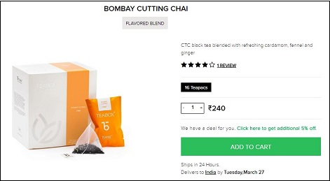 Bombay Cutting Chai Teabox