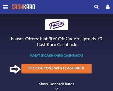 Faasos CashKaro Offer