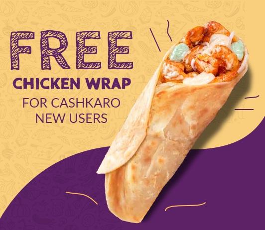 Free Chicken Wrap CashKaro