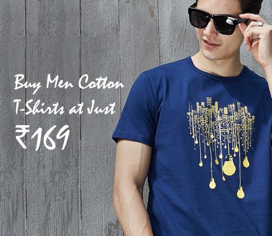 Men Cotton Printed T-Shirts