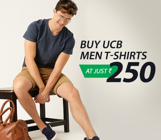 Myntra UCB Men T-Shirts