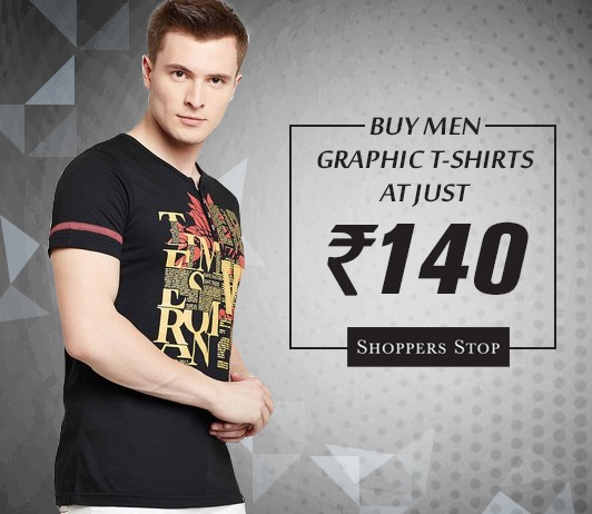 Shoppersstop Men Graphic T-Shirts Offer
