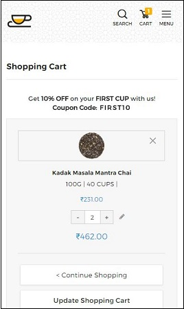 Teafloor Kadak Masala Chai Offer