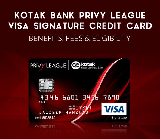 Kotak Bank Privy League Visa Signature Credit Card