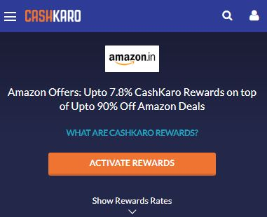 Amazon CashKaro