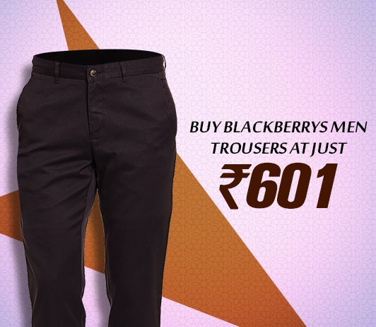 Blackberrys Men Formal Trousers