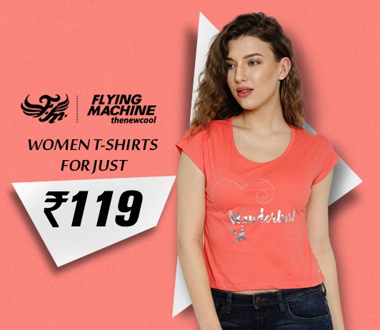 Flying Machine Women T-Shirts Offers