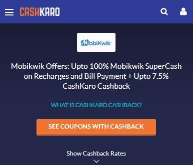 MobiKwik CashKaro