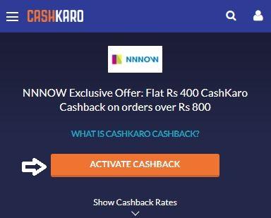 NNNOW Cashback