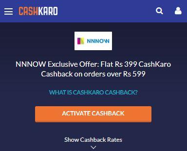 NNNOW Exclusive CashKaro
