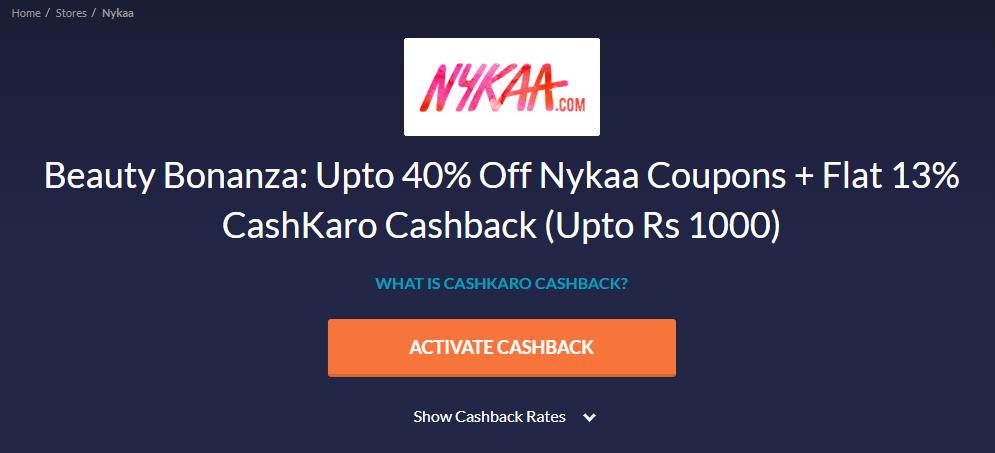Nykaa CashKaro Store