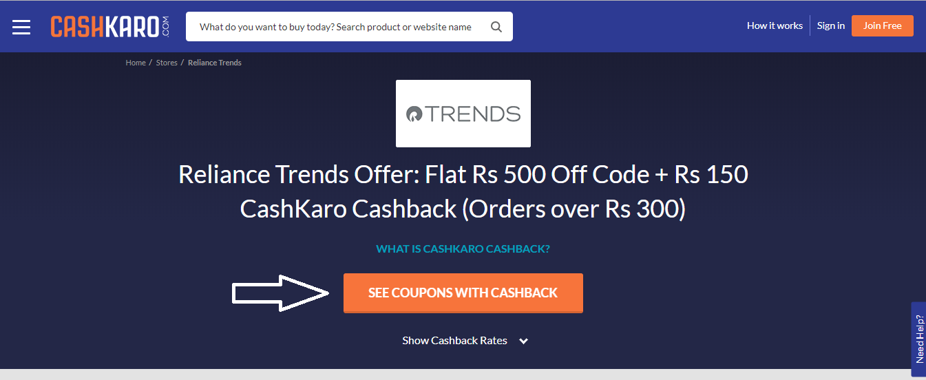 Reliance_Trends_Store_Page_Activate_Cashback