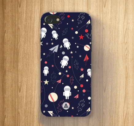 Spaceman Cartoon Planet Mobile Case