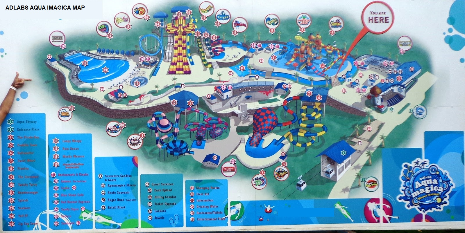 Adlabs Aqua Imagica Map
