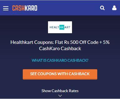 HealthKart CashKaro