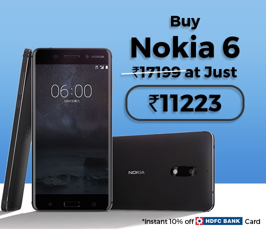 Nokia 6 32 GB Tata CLiQ Offer