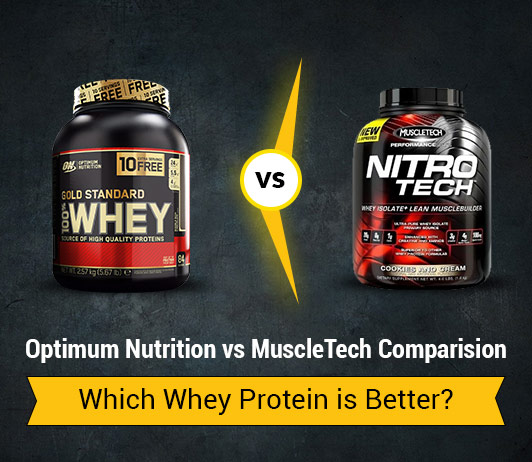 Optimum Nutrition (ON) vs MuscleTech: Which Whey Protein is Better?