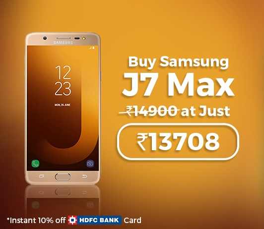 Samsung J7 Max 32 GB Tata CLiQ Offer
