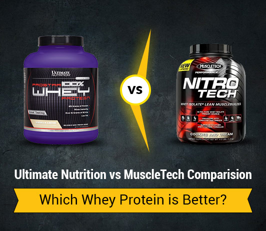 Ultimate Nutrition vs MuslceTech: Which Whey Protein is Better?