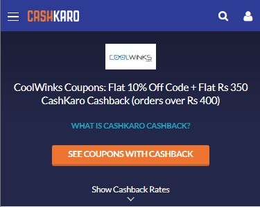 Coolwinks CashKaro