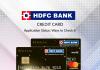 Check HDFC Credit Card Application