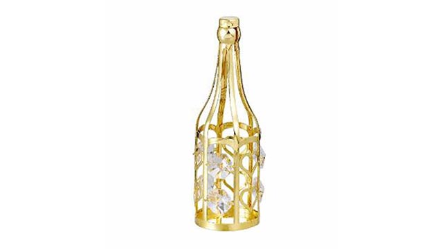 Blossoming Your Love WithEmbellished Wine Bottle