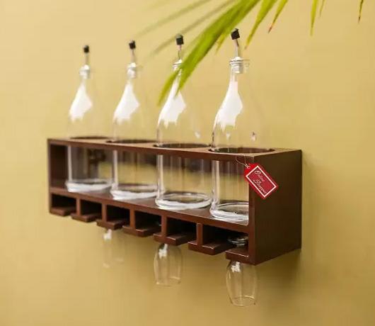Bottle Rack For a Romantic Celebration