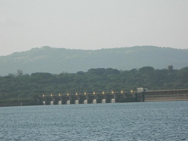 View of Khadakwasla Dam from Sinhagad fort