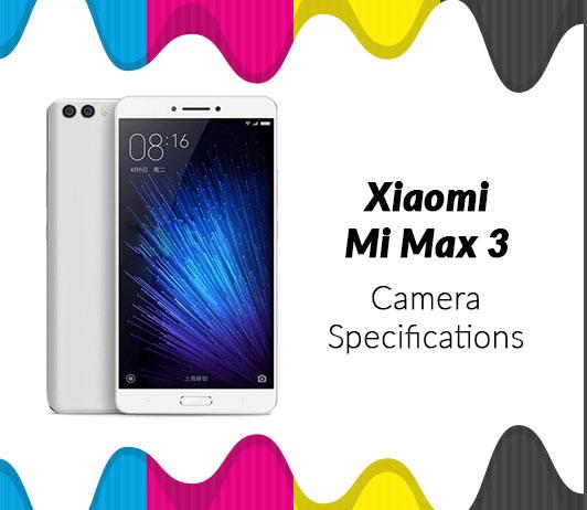 Xiaomi MI Max 3 Camera Specifications