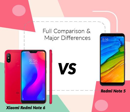 Xiaomi Redmi Note 6 vs Xiaomi Redmi Note 5: Full Comparison & Major Differences