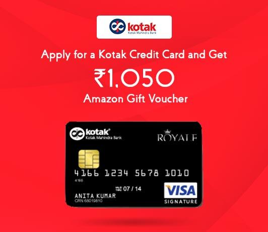 Apply For Kotak Credit Card: Get Kotak Mahindra Bank Credit Card Amazon Voucher Worth Rs. 1050