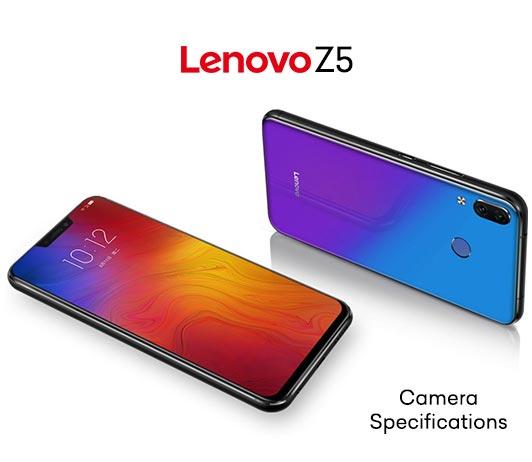 Lenovo Z5 Camera Specifications