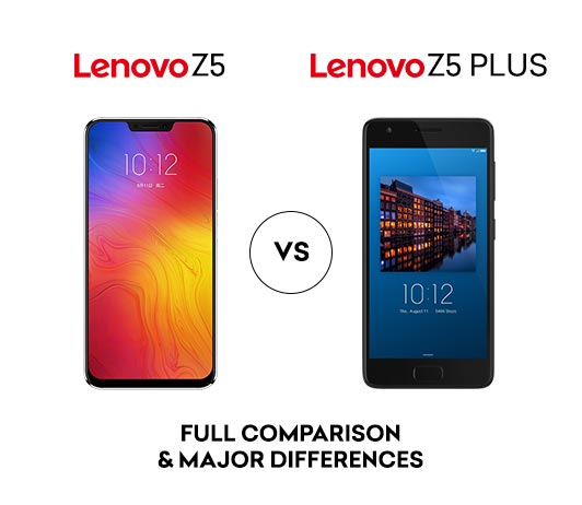 Lenovo Z5 vs Lenovo Z2 Plus: Full Comparison & Major Differences