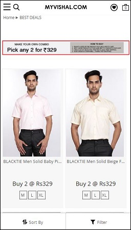 MyVishal Shirts Men