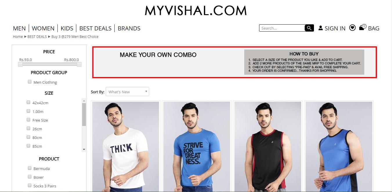 Select tshirts