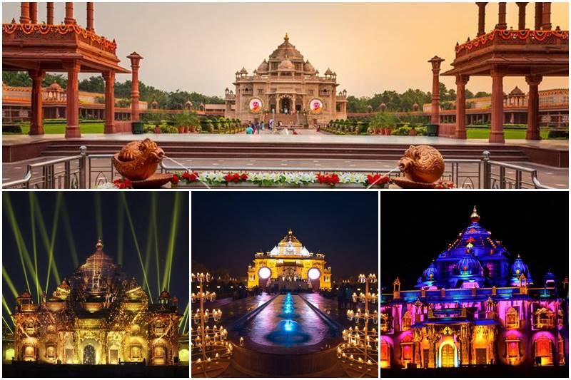 स्वामीनारायण अक्षरधाम मंदिर अहमदाबाद में जाने के लिए अद्भुत जगहें