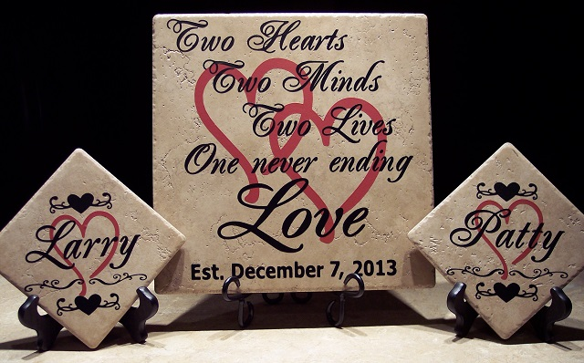 Personalized Anniversary Tile