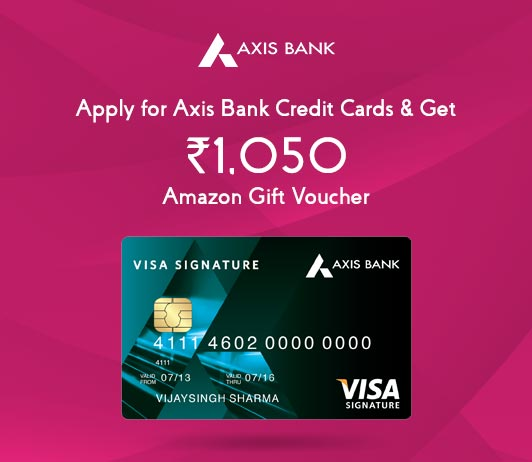Apply For Axis Credit Card: Get Axis Credit Card Amazon Voucher Worth Rs. 1050