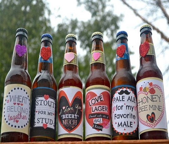 Beer Bottles with Customized Labels