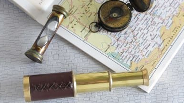 Brass Nautical Navigation Collectible Tool Set for the Curious Traveller