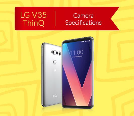 LG V35 ThinQ Camera Specifications
