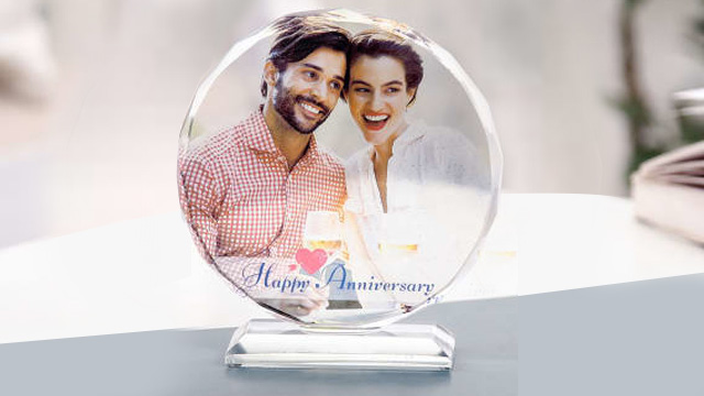 Personalized Crystal for 1st Anniversary