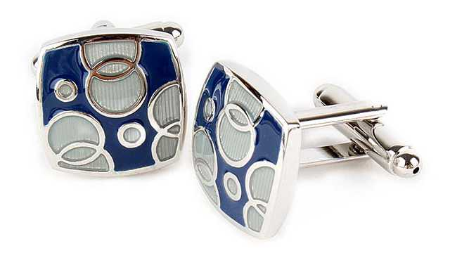 Trendy Aqua Bubbles Cufflinks for a Debonair Look