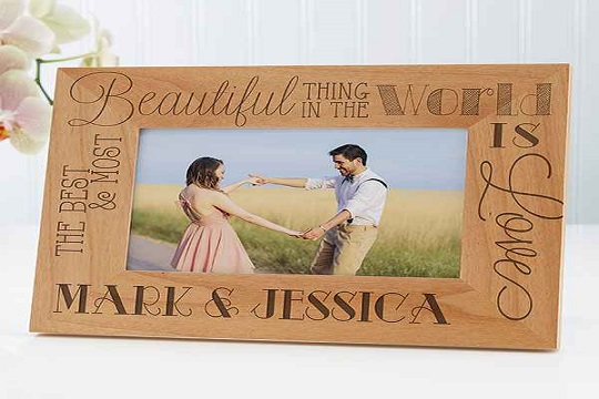Engraved on a Wooden Frame