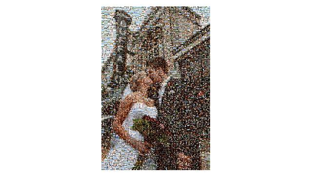 Personalised Mosaic Art Photo Frame