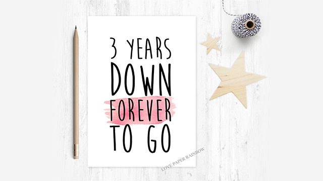 Personalised Anniversary Card and a Bouquet of Red Roses