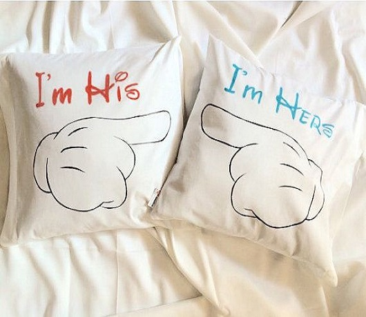 I'm Hers and I'm His Pillows to Add the Magic