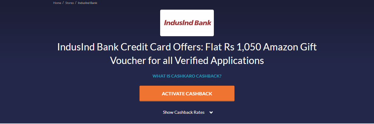 How To Apply For IndusInd Credit Card Step 2